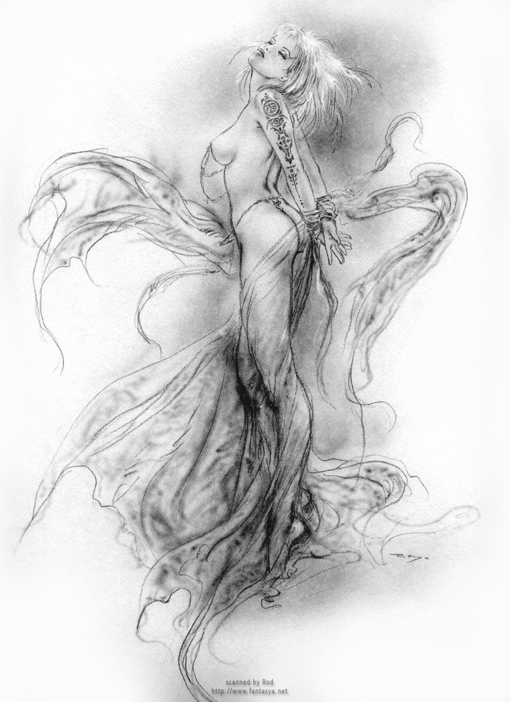 Рисованные девушки голые в карандаше 2 фотография